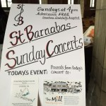 St Barnabas Concert poster