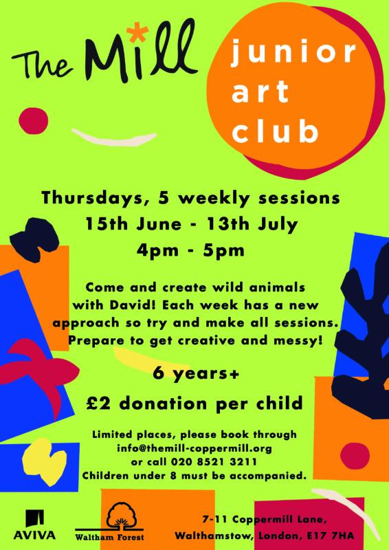 Art Club June-July 2017 poster