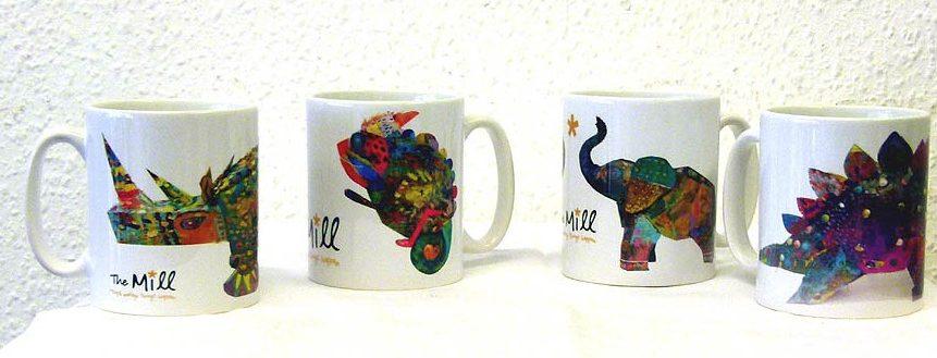 Four different merangerie mugs