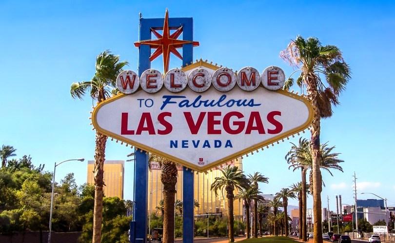 insegna Las Vegas. Welcome to fabulous Las vegas