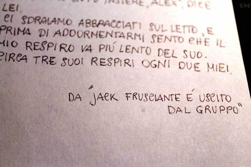 Jack Frusciante è uscito dal gruppo, una citazione da bologninabasement.it