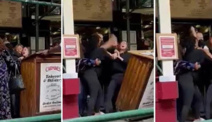 WATCH: Wild Brawl Breaks Out at New York City Restaurant After Group Asked to Show Proof of Vaccination Before Being Allowed InsideJulian Conradson