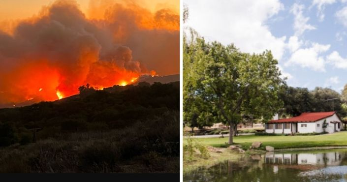 Exclusive Photos: Heartbreaking Images Show Wildfire on the Doorstep of Reagan Ranch