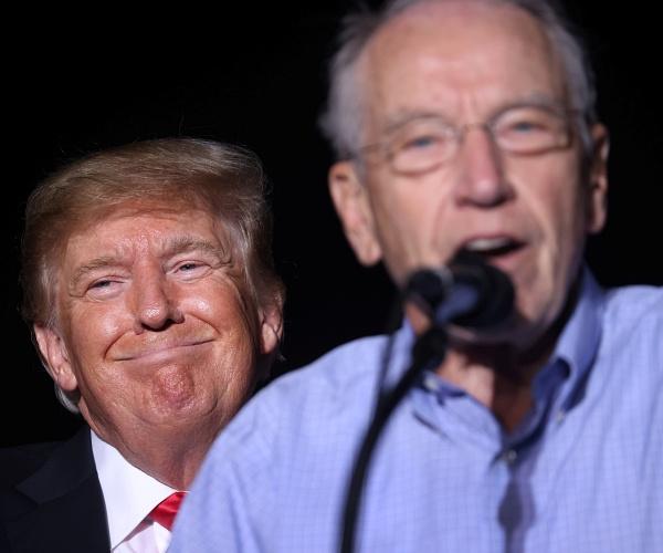 'Smart' Grassley Gladly Accepts Trump Endorsement