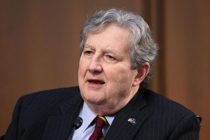 Sen. Kennedy says President Biden's 'poll numbers are going down like a fat guy on a seesaw'