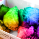 Speculative image of what Chick-Fil-A rainbow chicken nuggets would look like.