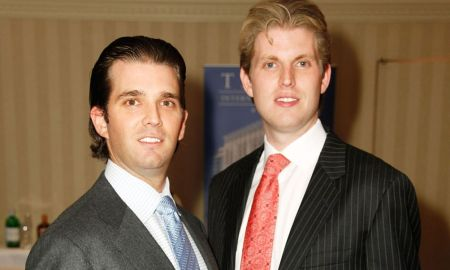Donald Trump Jr. and Eric Trump practice making shivs in preparation for prison time.