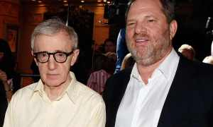 Harvey Weinstein and Woody Allen, two sexual predators, enjoy each other's company.