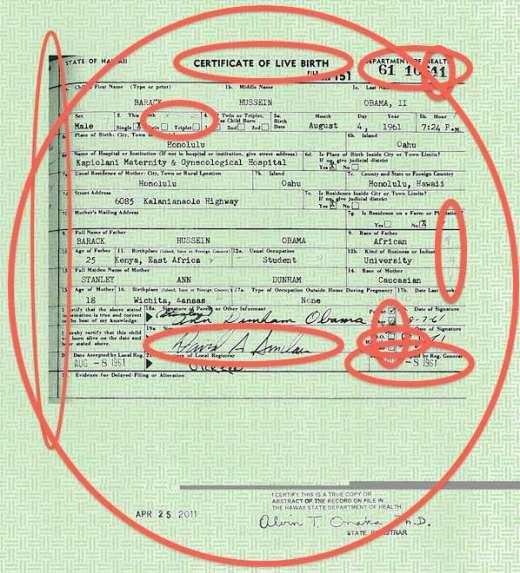 Image result for obama fake birth certificate