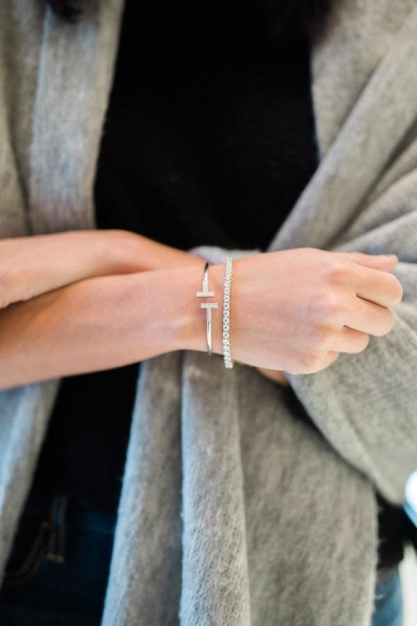 Miller Affect Wearing Tiffany T Bracelet