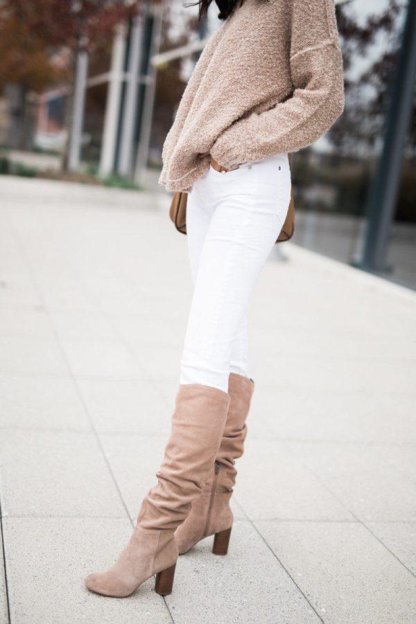 Three Ways Wear White Jeans In Winter Miller Affect