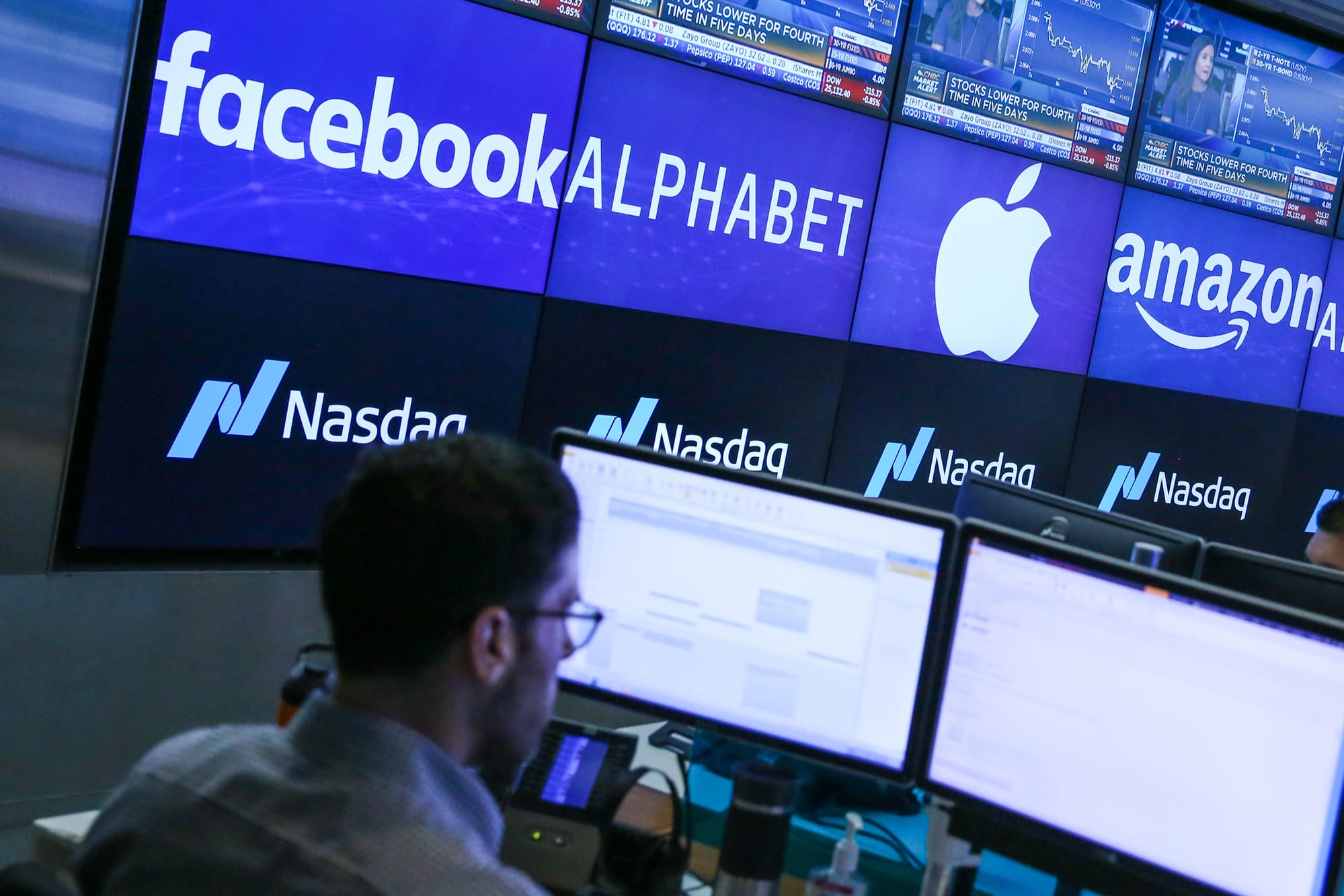 Tech giants now make up more than 20 percent of the value of the entire S&P 500