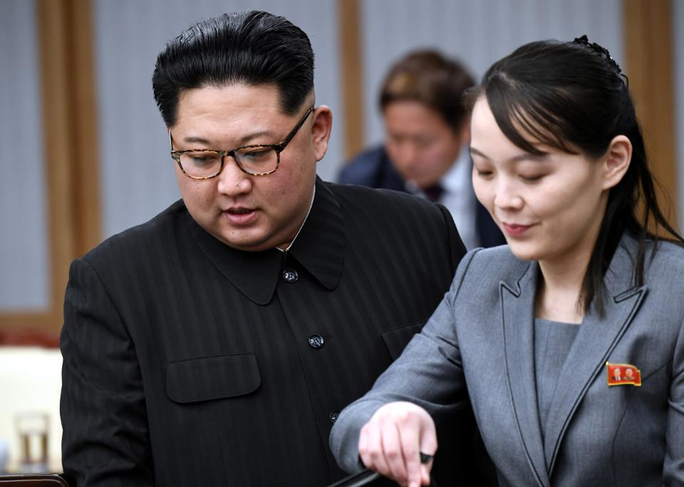 Kim Yo Jong and Kim Jong un
