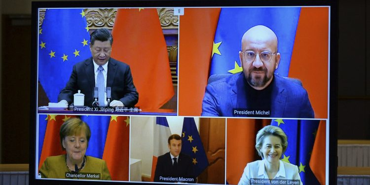 """EU-China trade agreement reached during """"dark days"""" in the US"""