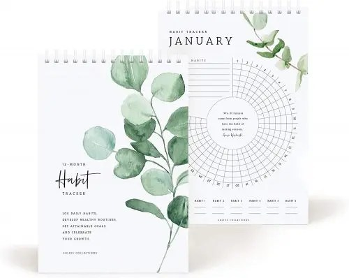 Bliss Collections Habit Tracker Calendar Notepad e1606410398793