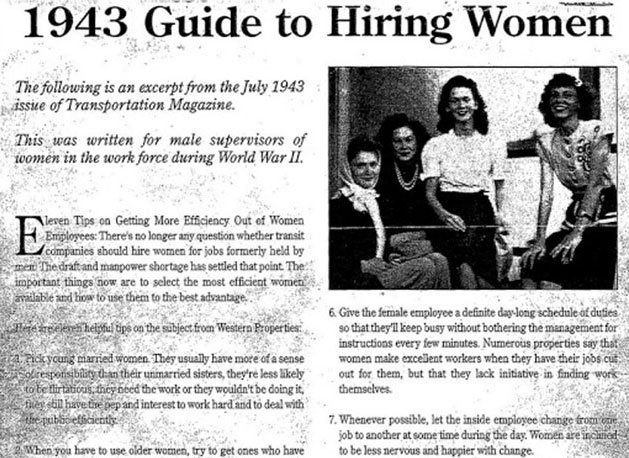 Hiring Women? Check Out This 1943 Guide