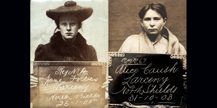 Edwardian Criminal Faces of North Shields – Vintage Mugshots of Women in the early 1900s