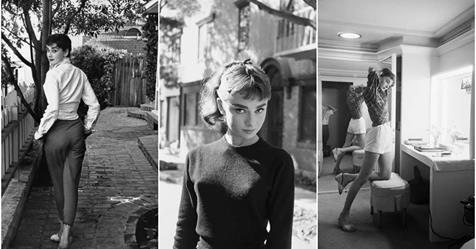 Intimate Pictures of Young Starlet Audrey Hepburn at Home in Beverly Hills, 1953