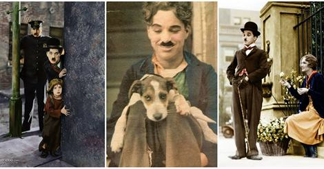 18 Interesting Colorized Photos of Charlie Chaplin from between the 1910s and 1930s
