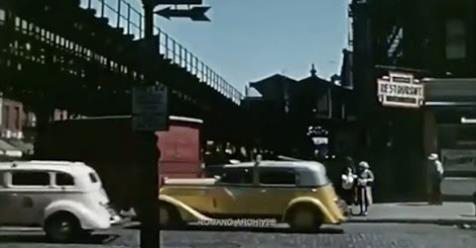 A rare and amazing color footage captured scenes of New York City in 1939