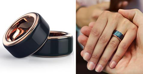 Smart Minimalist Rings Let You Feel Your Loved One's Heartbeat in Real Time