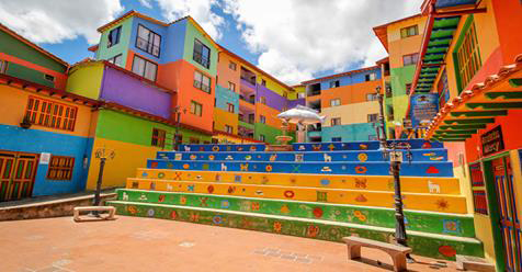 Traveling Photographer Stumbles Upon the Most Cheerfully Colorful Town in the World