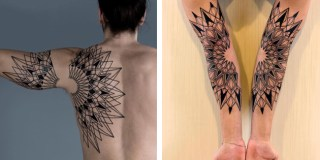 Striking Geometric Tattoos Inspired by Nature's Microscopic World