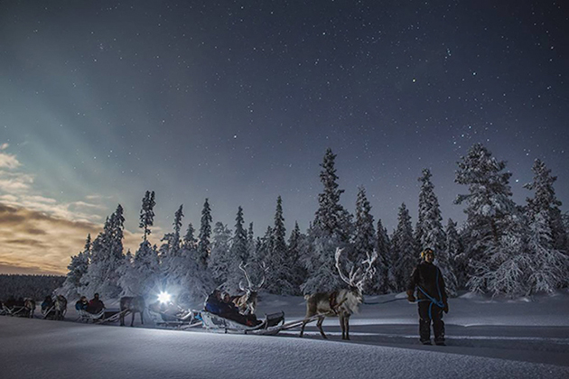 Winter in Finland Under the Northern Lights
