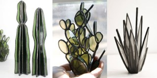 Look at this amazing collection of bespoke stained glass succulents by Lesley Green