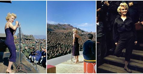 Fascinating Photographs of Marilyn Monroe Performing for the Thousands of American Troops in Korea, February 1954