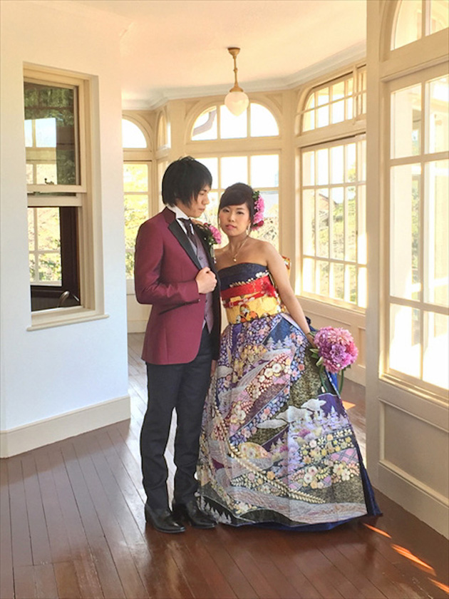 kimono wedding dress