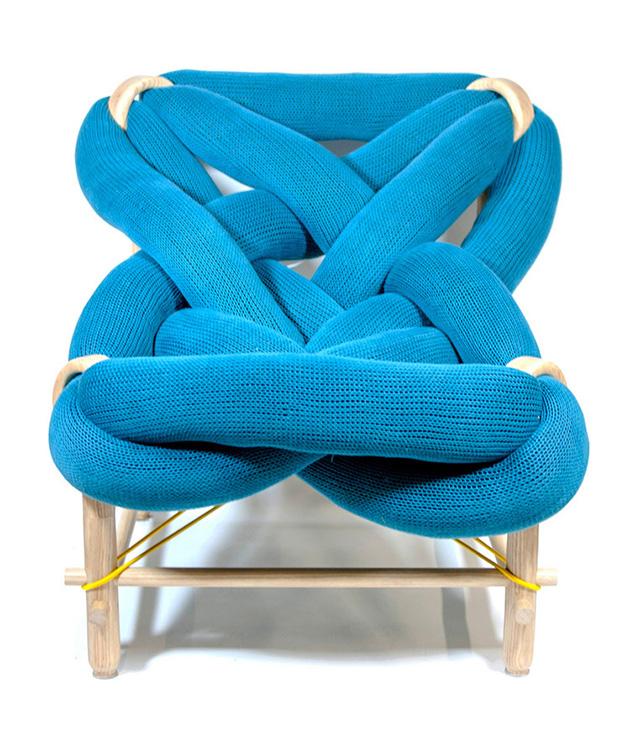 chunky knit chair