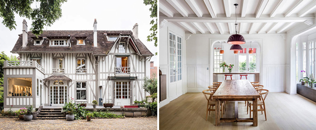 Interior of 19th Century French Home Gets a Stunning Modern Makeover