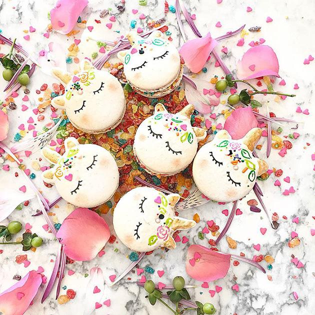 cute unicorn macarons