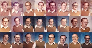 Started as a Mistake, Retired Gym Teacher Wore the Same Disco-Era Outfit for 40 Years of Yearbook Portraits