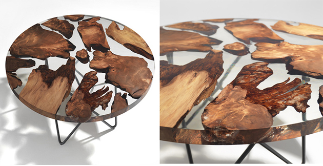 This Amazing Sculptural Resin Table Is Manufactured By Making Use Of Wood Dating Back To 50,000 Years