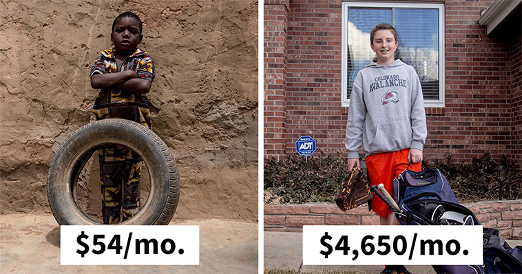 kids at different income