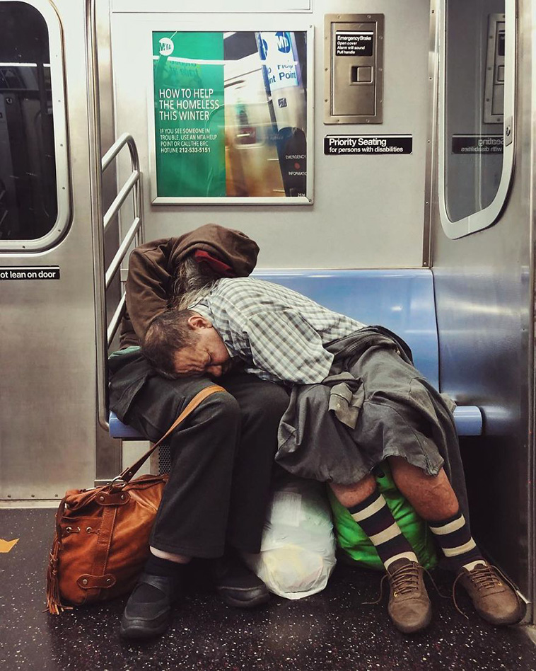 woman uses iphone photograph strangers