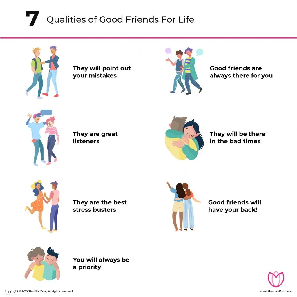 7 Qualities Of Good Friends For Life