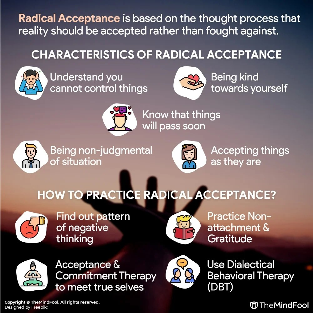 Different ways to practice radical acceptance