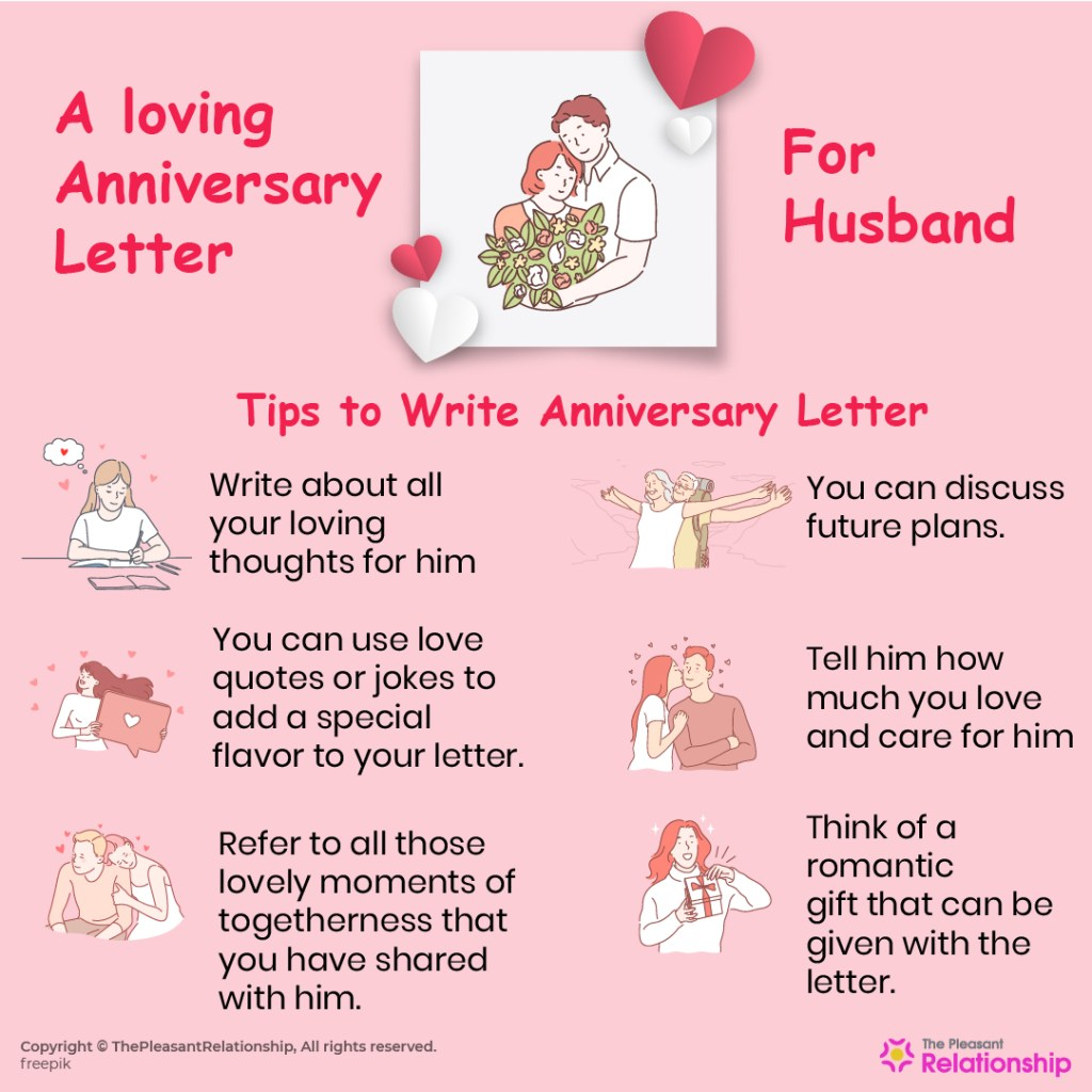 A Loving Anniversary Letter for Husband
