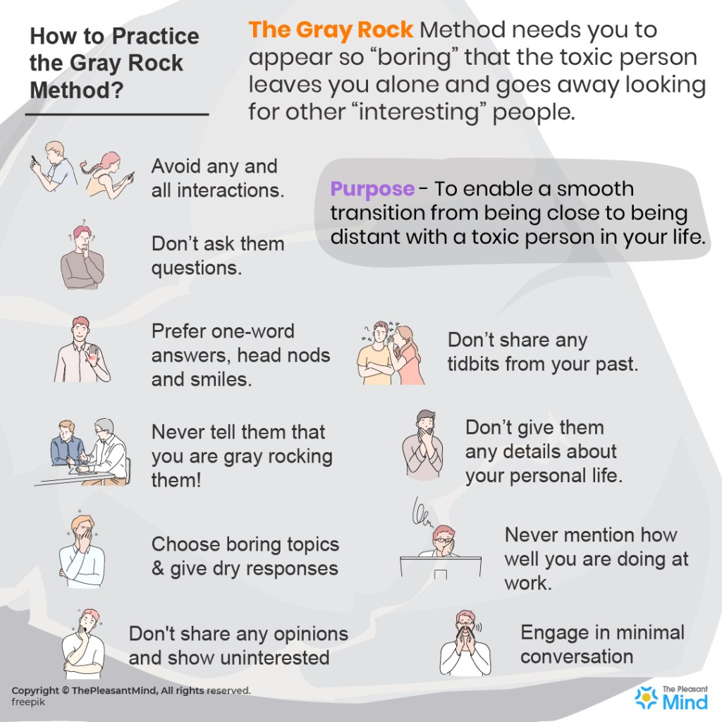 Apply the Gray Rock Method to Keep Toxic People At Bay
