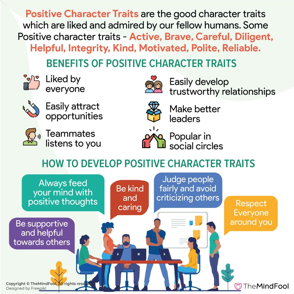 Positive Character Traits are Lifelong Assets