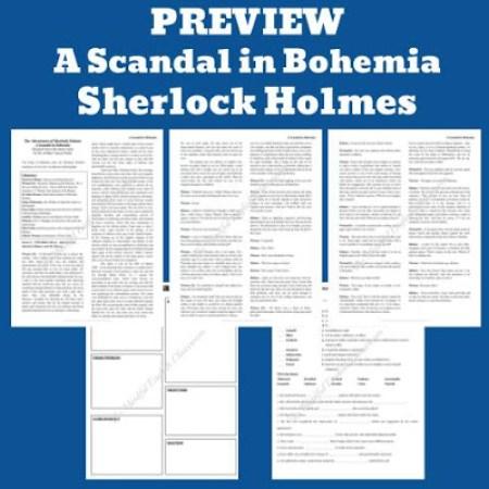Sherlock Holmes, Readers Theater, Lesson Plans, ELA, Digital Escape Room, Short Story, Short Stories, No Prep, High School, English, Google Classroom