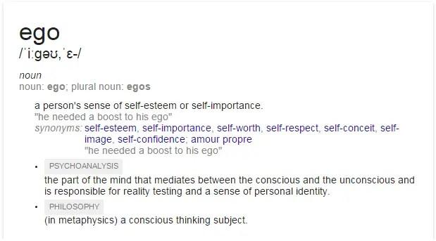 Ego definitions
