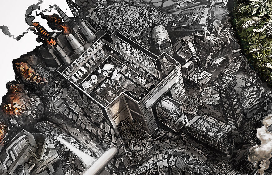Incredibly Detailed Drawings land