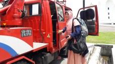 Saat sampai di Masjid Selat Melaka