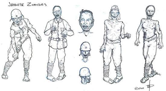 Japanese zombie concept art