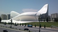 The Heydar Aliyev Cultural Center, Baku, Azerbaijan, 2012. Architect: Zaha Hadid.