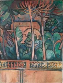 The Terrace at the Hôtel Mistral Georges Braque Date: L'Estaque and Paris, autumn 1907 Medium: Oil on canvas